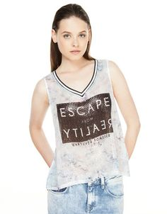 Bershka United Kingdom - Bershka sequinned top