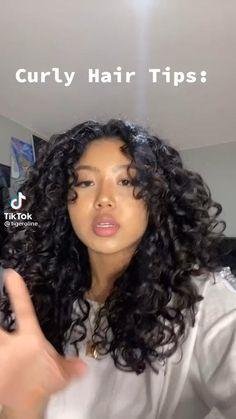 3a Curly Hair, Curly Hair Styles Easy, Cute Curly Hairstyles, Curly Hair Routine, Natural Hair Styles, Long Hair Styles, 3a Hairstyles, Curly Hairstyles For Medium Hair, Naturally Curly Hairstyles