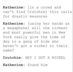 Gawd Crutchie is such a cutie