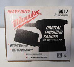 Milwaukee 6017-6 1.8 Amp 1/4 Sheet Orbital Palm Sander & Dust Bag NIB #Milwaukee