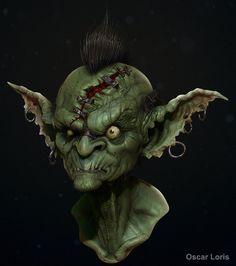 The Goblin bust final, Oscar Loris on ArtStation at http://www.artstation.com/artwork/the-goblin-bust-final