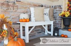 DIY Outdoor Bench with plans via Thrifty & Chic  #diy