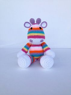 Crochet Giraffe Doll Amigurumi Stuffed Animal di YouHadMeAtCrochet, $36.50