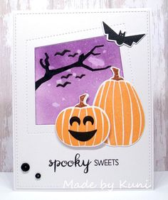 Lisa Johnson Designs Spooky Sweets stamp set and Die-namics and Peek-a-Boo Wonky Windows Die-namics #mftstamps