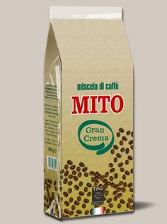 Caffè Mito Gran Crema 1000 gr - In beans - A balanced blend with a full, rich and full-bodied taste. PACKAGES: 1000 gr