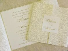 A Perfectly Pearl Pebble Wedding Invitation by Magna Carta Invitations.    • Saturday appointments available: 305.661.0999  • Visit our Website: http://magnacartainvitations.com/