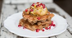Vegan Buckwheat Waffles with Cinnamon Spiced Apples   I love this recipe! It's so heart-warming and requires minimum effort for maximum taste. A sprinkle of salt, vanilla powder, baking powder and a touch of maple syrup make these waffles light, fluffy and full of flavour, but without the guilt – they're gluten free and even vegan @madeleine_shaw_