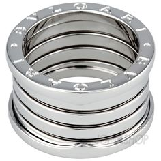 Bvlgari B.zero1 18kt White Gold Five-band Size 7 Ring 323580 $1,440.50
