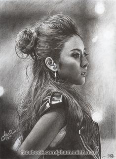 dara 2ne1 pencil drawing p2m by phamMinhMan.deviantart.com on @deviantART