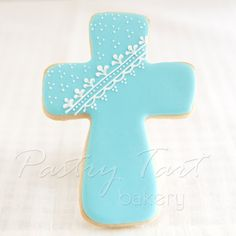 Items similar to Baby Boy Cross Cookie Favors // One Dozen Sugar Cookies on Etsy