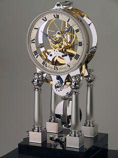 NT 1 – Variations Mantel Clocks, Wood Clocks, Antique Clocks, Sistema Solar, Wooden Gear Clock, Skeleton Clock, Mechanical Clock, Clock Shop, Retro Clock