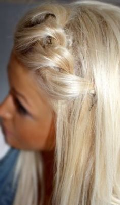 Mermaid braid ... Perfect way to tie back bangs