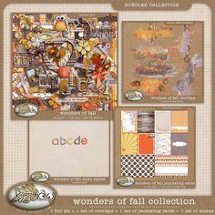Wonders of Fall - Bundled Collection by K Studio #digitalscrapbooking #scrapbooking #digiscrap #kstudio #fall #autumn #onsale #freebie