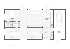plattegrond levensloopbestendige woning - Google zoeken Villa, Thatched House, House Plans One Story, Cottage In The Woods, Flat Roof, City Living, House Layouts, Beautiful Interiors, Home Interior Design