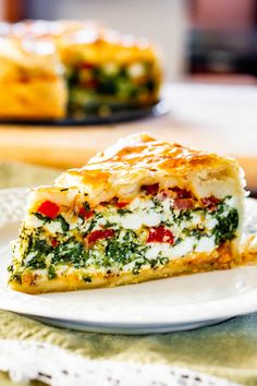 This Spinach Ricotta Brunch Bake recipe is the perfect casserole to make for your weekend brunch. This is a dish that can be made ahead and will surely impress your guests. This Spinach Ricotta Brunch Bake recipe is… Continue Reading → Best Brunch Recipes, Favorite Recipes, Vegetarian Brunch Recipes, Healthy Brunch, Brunch Foods, Brunch Drinks, Breakfast Dishes, Breakfast Recipes, Egg Dishes For Brunch