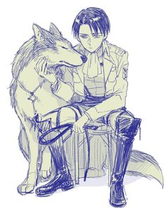 Notice the wolf/dog is wearing the basement key?... The dog is Eren and in court after Levi beat him he stated was that was Eren needs is to be taught a lesson, he shouldn't be trained as a human but an animal