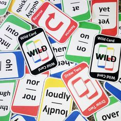 """Practice second grade sight words with this """"UNO"""" style card game!"""