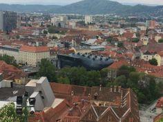 Graz Modern City, New Art, Paris Skyline, Old Things, Travel, Beautiful, Graz, Viajes, Destinations