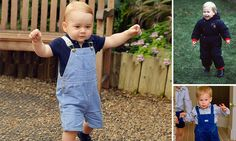 It's a Royal walkabout! Gorgeous new portrait of Prince George to mark his first birthday on Tuesday - and hasn't he found his feet!