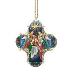 Jim Shore for Enesco Heartwood Creek Nativity Cross Ornament
