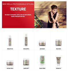 Wella Professionals EIMI Texture Collection.