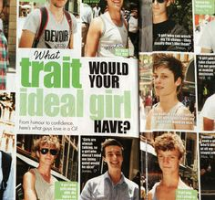 This was in Girlfriend magazine which is aimed at girls. So having an article where boys describe their ideal girl suggests to the girl what they should be making the men more superior to women as they set the standard and their needs/ desires are fulfilled by the women's obedience to the ideal woman set by men.