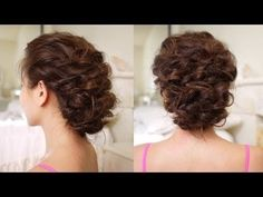 pinned up curls, low