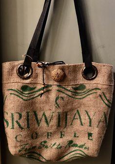 Sulawesi Toraja Burlap Coffee Tote Bag Handmade Custom Totebag Thequeenbean Millscoffee