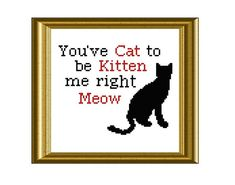 Funny Cat Quote Cross Stitch Pattern PDF Instant by RatherUnseamly, £2.50