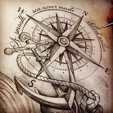 Resultado de imagem para nautical compass drawing