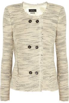 Isabel Marant Laure woven wool-blend jacket | NET-A-PORTER
