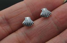 Sterling Silver Seashell Stud Earrings Cartilage by SimpleStep Cartilage Stud, Cartilage Earrings, Stud Earrings, Silver Nose Ring, Sterling Silver Earrings Studs, Rook Earring, Silver Color, Sea Shells, Unique Jewelry
