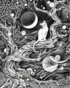 """Limited edition archival print from a drawing by Sheila Rayyan, signed and numbered. 8.5""""x11"""""""