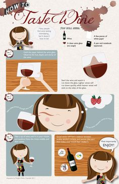 Graphic Design: How to Taste Wine by Meaghan Nolan, via Behance