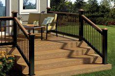 aluminum deck railing with wood posts   Deckorators Aluminum Railing Post Caps at DIY Home Center