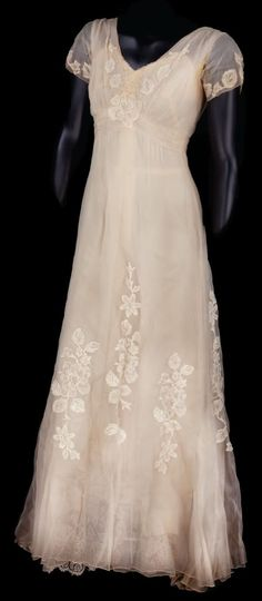 "Gown worn in the 1956 movie ""The Swan,"" starring Grace Kelly and Alec Guinness."