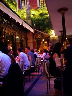 Hotel Costes. Food, cocktails, coffee, any time of day for people watching.