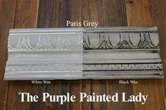 The Purple Painted Lady Paris Grey Chalk Paint Annie Sloan Black White Wax
