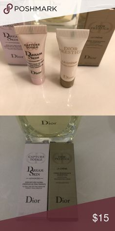 """Dior Face Creams Dior """"Capture Totale"""" and """"La Creme"""" Authentic Travel size. Made in 🇫🇷 France Dior Makeup"""