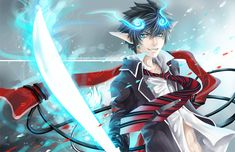 Some Very Blue Exorcist by Cindiq.deviantart.com on @deviantART  <3 this so freaking much!