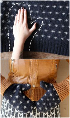 Those old sweaters that you no longer use can be repurposed into new home items like DIY mittens.  That's the beauty of DIY, you get new items for zero cost. You just have to look around the house to find items that you don't use anymore, and use these