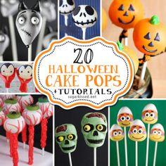 20 Halloween Cake Pops with Tutorials Halloween Cake Pops, Halloween Baking, Halloween Desserts, Halloween Cookies, Halloween Birthday, Halloween Treats, Halloween Party, Holloween Cake, Halloween Stuff