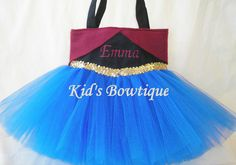 Personalized Tutu Bag  for a Frozen Anna Fan  by kidsbowtique