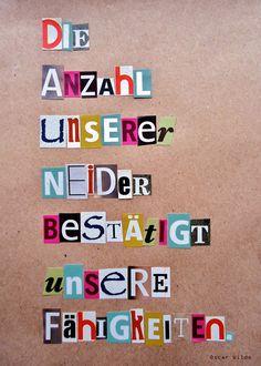 Postkarte Neid von HERZallerliebste auf Etsy, €1,20
