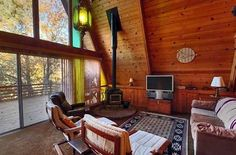 800 Sq. Ft. A-frame Cabin with Deck | Tiny House Pins