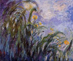 Клод Моне - Yellow Irises 3, 1914-17. Клод Оскар Моне