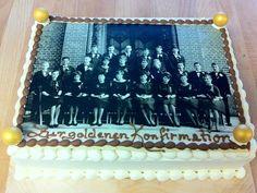 Tabler Torten. Eine Konfirmations-Torte zum besonderen Anlass - zur Goldenen Konfirmation mit passendem Foto und leckerer Sahne.