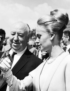 Alfred Hitchcock and Tippi Hedren