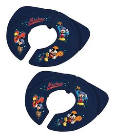 Loving this Mickey Mouse Folding Travel Potty Seat - Set of Two on #zulily! #zulilyfinds