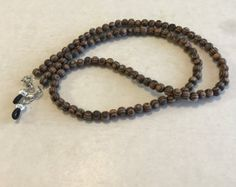 Amber Wood Beaded Eyeglass Chain-Sunglass Chain-Eyeglass Holder-Chain for Glasses-Necklace